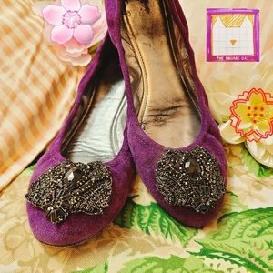 ELIE TAHARI 🍇 Lucille Ballet Flats in Grape Jelly
